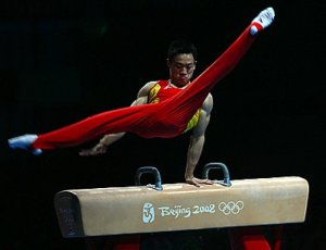 If you practice this article's exercise enough, you may one day be as agile as this Chinese gymnast... By Rick McCharles via Wikimedia Commons