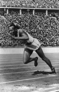 Jesse Owens during the Berlin 1936 Olympics