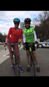 My friend Martha and I after 40 mile bike ride in New Jersey.